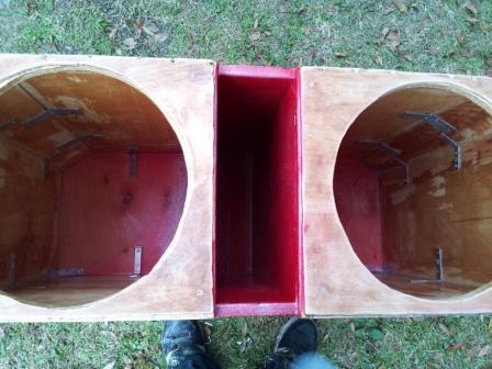 my box resined and braced and painted