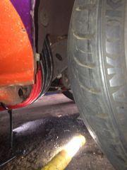 wire Run under car