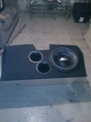2001 camaro custom 15 inch box 4.4 cubic foot box tuned to 35 hz with 2 4 inch aero ports with a audioque hdc 3 a 15
